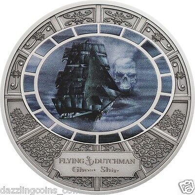 Flying Dutchmen - Antique finish Silver Coin 2016  Cook Islands