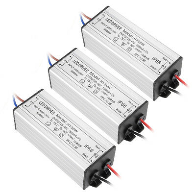 3pcs AC 85-265V to DC 25-40V 1500mA IP66 50W LED Lightstrip Power Supply Driver