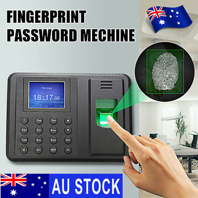 USB Password Fingerprint Attendance Employee Payroll Time Recorder Ring Clock AU
