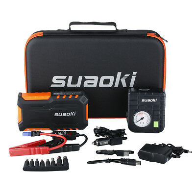 Suaoki 18000mAh Auto Portable Jump Starter Pack Booster Chargeur Batterie LED