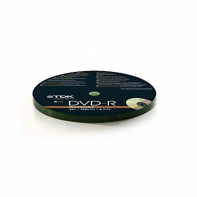 TDK DVD-R 120 Mins 4.7GB 16x Speed Recordable Blank Discs - 5 Pack Shrink Wrap