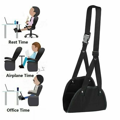 Portable Airplane Footrest Adjustable Foot Rest Leg Pillow Table Hanging Hammock