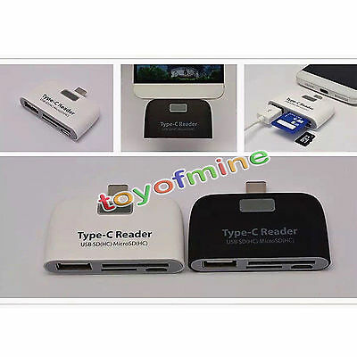 3in1 USB 3.1 Type C USB-C TF Micro SD OTG Card Reader For Macbook Phone Tablet