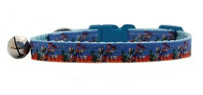 """Blue Buzz Woody   """"Toy Story """"   safety kitten cat collar 3 sizes"""
