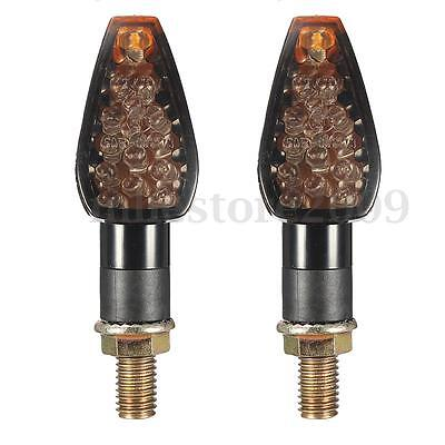 2x 14 LED Clignotant Ambre Moto Feux Indicateur Turn Signal Light Pour BMW Honda