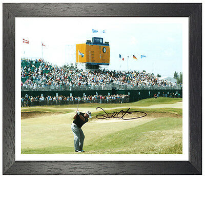 "Darren Clarke Framed Signed Photo - ""The Winning Shot"""