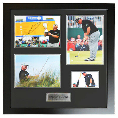 Darren Clarke Framed Signed Display - 2011 Open Championship Display