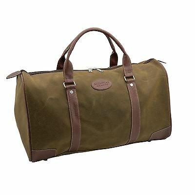 Mens Overnight Weekend Holdall Duffle Bag, Faux Leather.