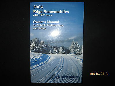 2004 Polaris Edge Snowmobile Owners Manual for Safety and Maintenance Original