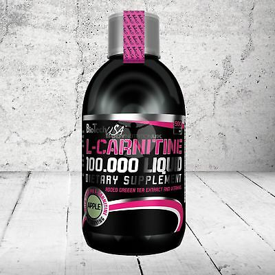BioTech USA L-Carnitine 100.000 Liquid 500ml With Green Tea Extract and Vitamins