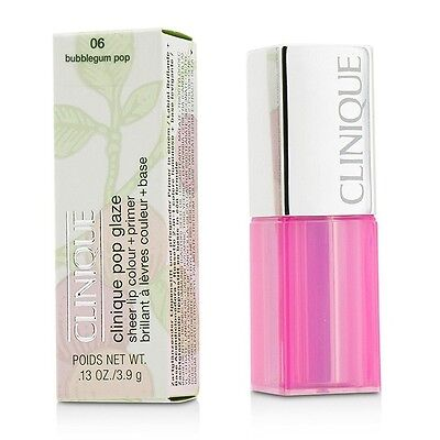 NEW Clinique Pop Glaze Sheer Lip Colour + Primer (# 06 Bubblegum Pop)