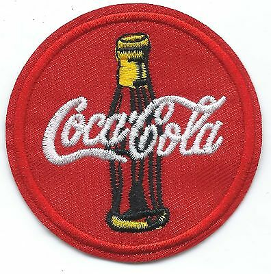 Coca Cola Embroidered Patch Iron-on Motif 6.3cm Art Good Luck Magic Coke