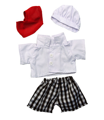 "Teddy Bear Clothes Chef Cook outfit fit 15"" 16"" build a bear factory teddy bears"