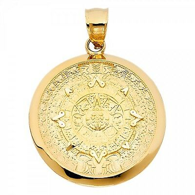 14K Yellow Gold Calendario Azteca Pendant GJPT1564