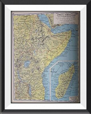Africa North East Madagascar  Vintage Map c1960 Original Perfect For Framing -m1
