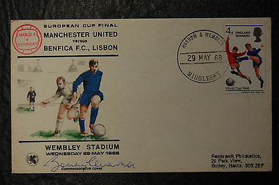 Bobby Charlton Manchester United 1968 European Cup Signed First Day Cover