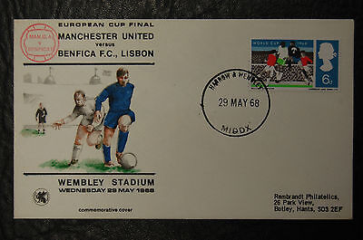 Manchester United 1968 European Cup First Day Cover Rembrandt George Best