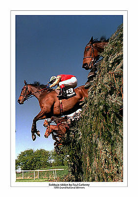 Bobbyjo Paul Carberry 1999 Grand National Horse Racing A4 Photo
