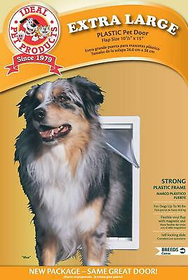 "Ideal Extra Large Original Frame Pet Dog Plastic Door 10.5""x15"" USA"