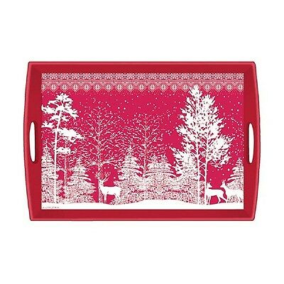 Michel Design MH6 Decoupage Rectangle Wooden Tray – Snowy Night WTD275