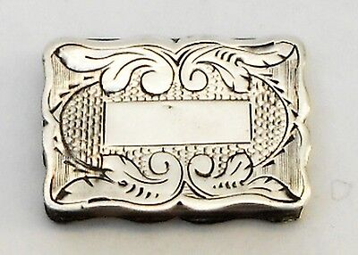 Antique European Sterling Silver Vinaigrette Miniature Mini -1800/1850