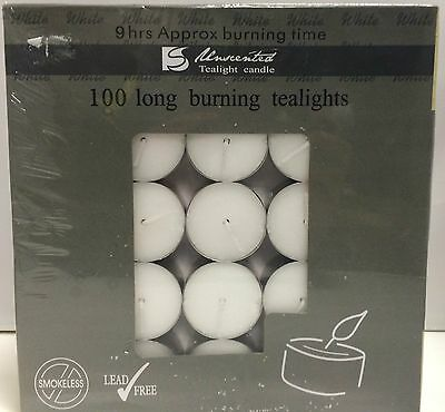 100Pcs 9 Hours White Tealight Candle Tea Light Candles Home Decor Party Wedding