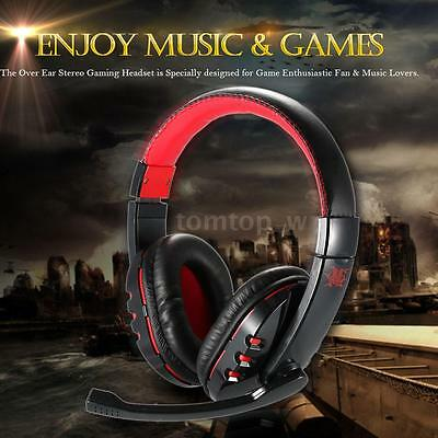 Wireless Bluetooth 4.0 + EDR Gaming Headset Stereo Headband Headphone Mic for PC