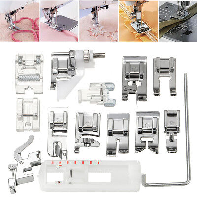 14Pcs Domestic Snap Presser Foot Set for VIKING HUSQVARNA Sewing Machines
