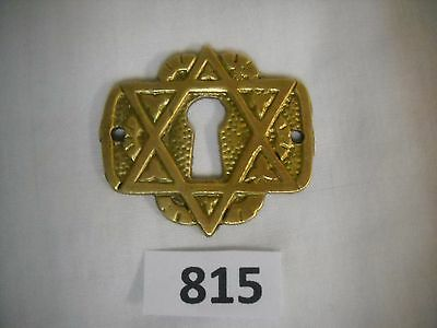 Eastlake Style Cast Brass Star Of David Key Hole Cover • CAD $20.96