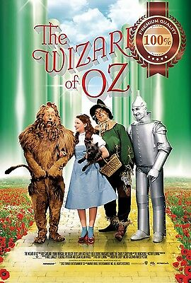 New The Wizard Of Oz Retro Classic Original Film Movie Art Print  Premium Poster