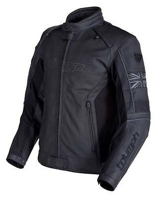 Mens Triumph Mugello Leather Motorcycle Jacket