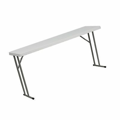 "18''W x 60''L Granite White Plastic Folding Training Table 18"" x 60"" Training"