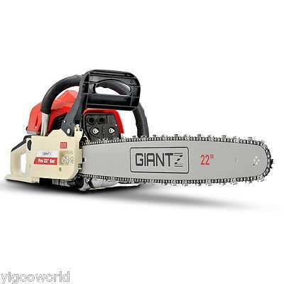 "Giantz 62CC Commercial Petrol Chainsaw 22"" Bar E-Start Tree Pruning Chain Saw AU"