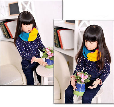 Autumn Baby Boy BUAU Girl Toddler Kids thick scarf Wool Knitted Winter Warm