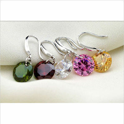 New 1pair Women Elegant Crystal Rhinestone Ear Stud Earrings