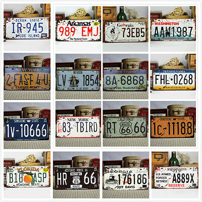 Vintage Metal Car License Plate United States Home Decor Auto Tags Collectible
