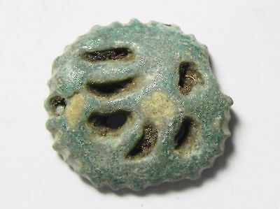 Zurqieh -Ao31- Ancient Egypt , Faience Eye Of Horus , 600 - 300 B.c