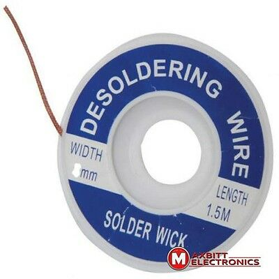 Desoldering Wire PCB Circuit Cleaning 1.50mm Copper Braid 1.5m