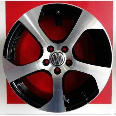 "F164/bd Kit 4 Cerchi In Lega 17"" Ece 124 R Made In Italy Volkswagen Golf 5 6 7 *"
