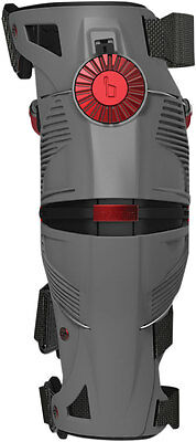 MOBIUS Motocross Offroad X8 Knee Braces Left & Right (Grey/Red) S (Small)