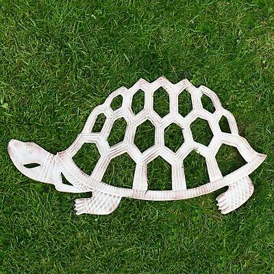 French Cream Cast Aluminium Cut-Out Turtle Garden Stepping Stone
