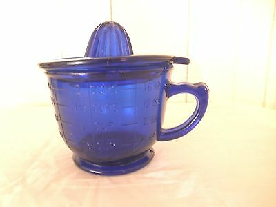 Cobalt Blue Measuring Cup and Jucier