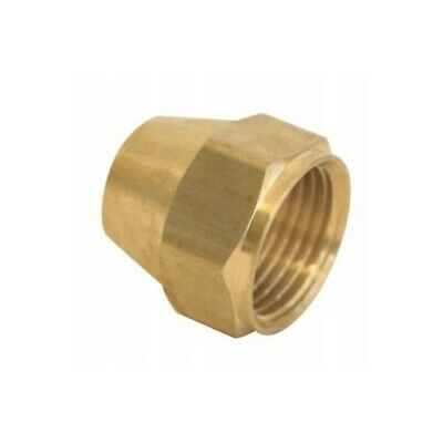 """Short Flare Nut - 1/2"""", High Quality Brass, Ships from USA,"""