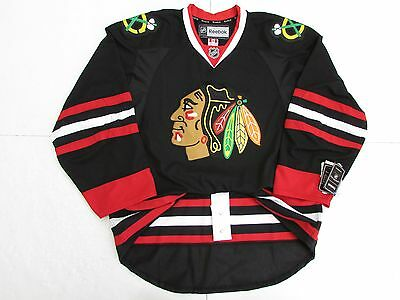 online store 4531f 45bd4 CHICAGO BLACKHAWKS AUTHENTIC Third Black Reebok Edge 2.0 7287 Hockey Jersey