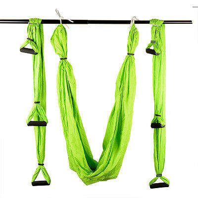 New Inversion Therapy Anti-Gravity Aerial Traction Yoga Gym Fitness Swing Green
