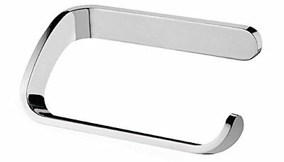 Curved Toilet Roll Holder. Polish Chrome High Shine Finish