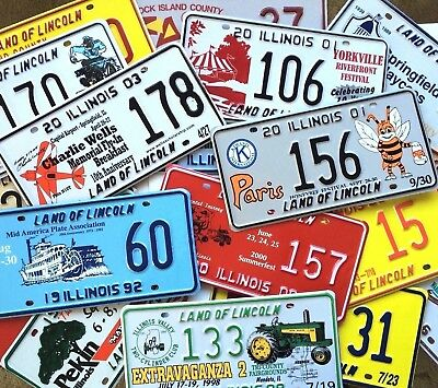 Collector License Plate Lot 100 Different Illinois Special Event Old Craft Car