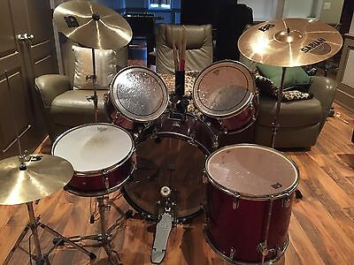 Full Standard Drum Kit with Drum Sticks and Sound Covers