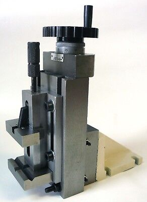"Precision Lathe Milling Attachment - Vertical Slide + 2"" Quick Vise + Mount New"