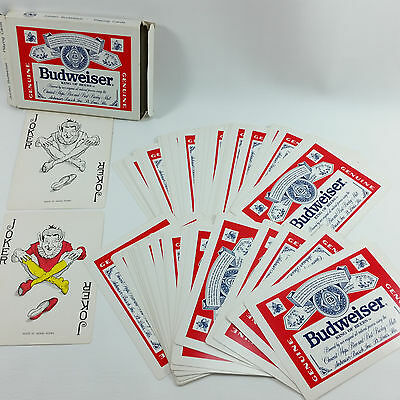 Budweiser Jumbo Playing Cards Complete w Jokers 7 x 5 inch cards